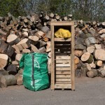 Log store single for firewood logs