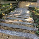 An image of wooden steps, created by the arborists at Treesaw.
