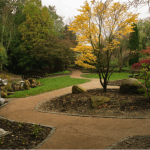 A photo of the Japanese Garden at Valley Gardens in Harrogate