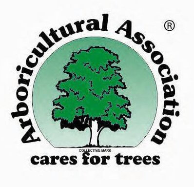 An image of a logo from the Arboricultural Association for approved Contractors, Treesaw.